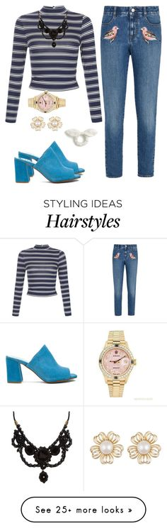 """""""cuteness"""" by cecilialukas on Polyvore featuring Maryam Nassir Zadeh, STELLA McCARTNEY, New Look, Rolex, Gucci and J.Crew"""