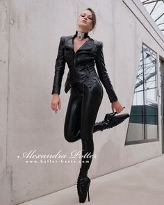 Ballet Boots, Ballet Heels, Alexandra Potter, Shiny Leggings, Fetish Fashion, Future Fashion, Leather And Lace, Fashion Models, Womens Fashion