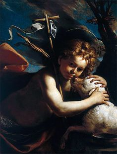 ۩  Young St. John the Baptist - Mattia Preti - Hand-Painted Reproduction and Canvas Print