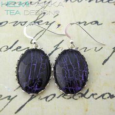 Violetti-mustat pitsireunakorvikset 20€ #tilaustyö #customorder #customwork