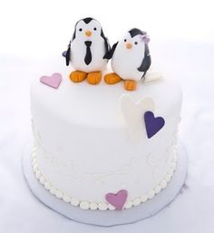 Penguin Party :: black, white, purple