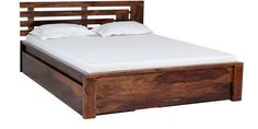 ELICIA BED WITH STORAGE IN TEAK FINISH