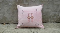 'Spanish Pink'  Moroccan Sabra Silk Pillow