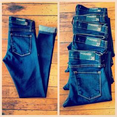 New arrivals  Flying Monkey Jeans: perfect, minimalist, skinny, dark, stretch denim. Favorite thing ever!