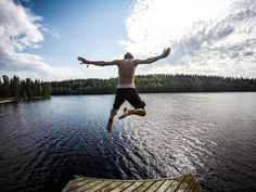 Jumped in May in Finland, during Erasmus exchange project.