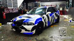 BMW Custom made camo body stickers
