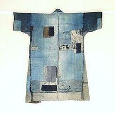 bleu-indigo:    boro kimono