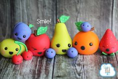 Smile! Happy Fondant Fruit!