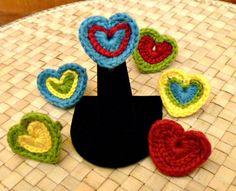 #Crochet heart ring free pattern @stitchstory