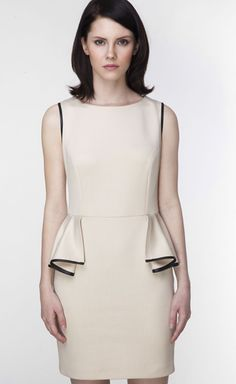A simple #peplum cocktail dress will take you from office to evening. #mfaf #womensfashion #fashion #workwearwednesday #workwear #officewear #eveningwear #cocktaildress