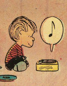 Linus, spinning the black circle