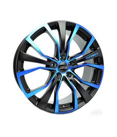 SSW Alloy Wheels S185lp 20 Inches 5 Holes Black Matte/Blue Clear for Honda