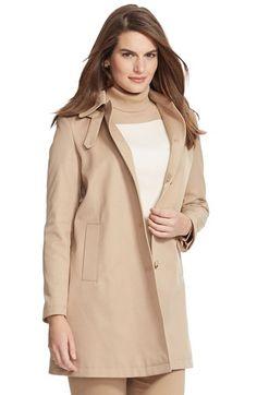 Lauren Ralph Lauren A-Line Coat with Detachable Hood