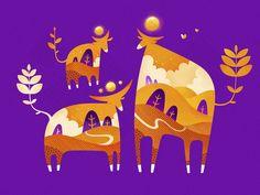 Sacred Cows by DAN Gartman - Dribbble