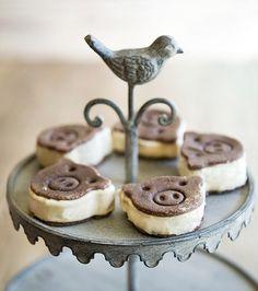 Banana Ice Cream Sandwiches #Healthy #Sweets #Recipes