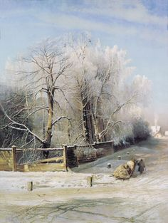 Hand painted oil painting reproduction on canvas of Winter landscape moscow 1873 by artist Alexei Savrasov as gift or decoration by customer order. Russian Painting, Russian Art, Watercolor Landscape, Landscape Paintings, Landscape Art, Russian Landscape, Winter Szenen, Art Aquarelle, Ukrainian Art