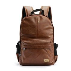2017 high quality brand fashion black leather men's backpacks preppy style brown women backpack bolsas mochila feminina P36 #hats, #watches, #belts, #fashion, #style