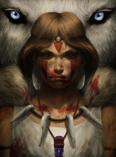 """""""Princess Mononoke"""" Disney/Pixar tried their shot at a highly marketable 'tomboy princess' in """"Brave"""" but I think they could learn something from Studio Ghibli's characters..."""
