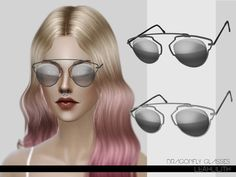 Dragonfly Glasses  Found in TSR Category 'Sims 4 Female Glasses'
