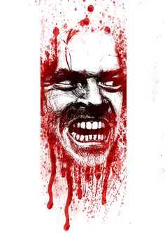 Bloody Icons of Horror by Adriano Ott, via Behance Behance by Adriano Ott