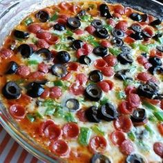 """Hot Pizza Dip I """"My guests devoured this dip in less than five minutes. Next time I'll make two."""""""