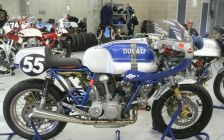 Endurance prepped Ducati with twin spark plug heads