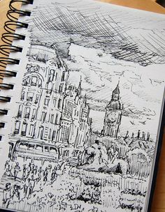 Ashley Paulisick - pen sketch big ben