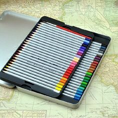 42 colors Senior Professional water-soluble colored pencil oil color tin box by Itemship, http://www.amazon.ca/dp/B00FRZLZIE/ref=cm_sw_r_pi_dp_5mRxsb0S8S6A5