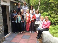 Fantastic group of people enjoying our last Snowdonia Mountain Yoga Retreat