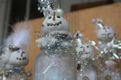 Snowmen, via flickr.