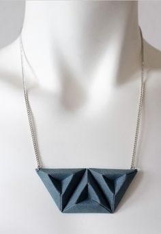 Origami Schmuck, Kette // geometrical pendant, jewellery by Say It Clothing Berlin via dawanda.com