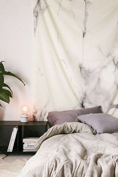 """NEW URBAN OUTFITTERS DENY CHELSEA VICTORIA MARBLE TAPESTRY 60"""" X 90"""" #DENY"""
