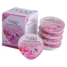 nügg Hydrating Face Mask Oil - Camellia Seed Oil & Spirulina Extract  (5 Count)