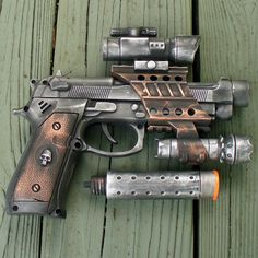 """""""Victorian Steampunk star wars INTERGALACTIC gun pistol.""""  Glad there is no acronym for that. Can I have one?"""