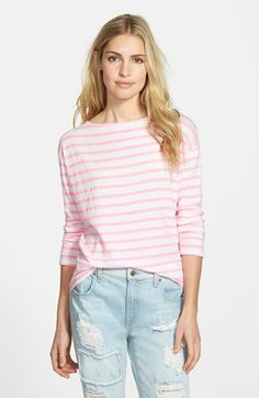 Sundry+Long+Sleeve+Stripe+Tee+available+at+#Nordstrom