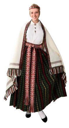 Zemgale region Womens' Folk Costume (SKU #7043) US $1880.00