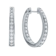 CRISLU Halo Hoop Earrings