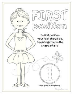 1st Position Coloring Page