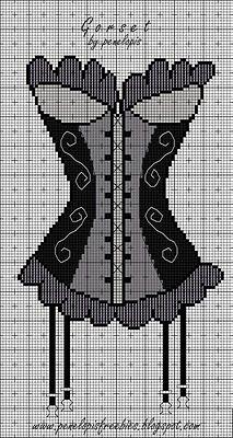 Penelopis' cross stitch freebies: corset / corset