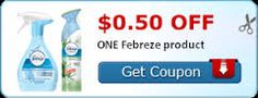 Coupon $0.50 off ONE Febreze product http://azfreebies.net/coupon-0-50-one-febreze-product/