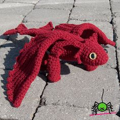 Amigurumi dragon pattern inspired by Toothless from How to Train Your Dragon - by The Itsy Bitsy Spider