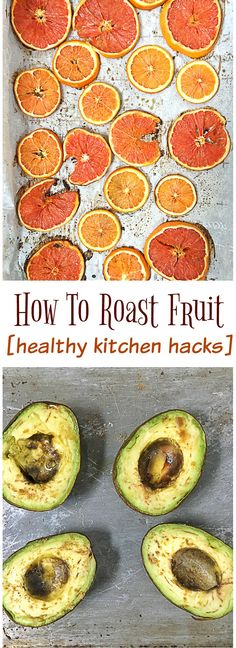 It's so easy to roast fruit and bring another level of flavor to healthy yummy recipes like salads, granola, chicken, tacos, desserts and more. Healthy Kitchen Hacks at Teaspoonofspice.com