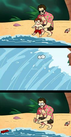 Stark: Peter where are you ! Peter: weeeeee Stark: Peter get of the water or you will get drowned! Funny Marvel Memes, Marvel Jokes, Dc Memes, Marvel Dc Comics, Marvel Heroes, Marvel Avengers, Loki, Thor, Superfamily Avengers