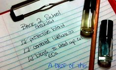 A Drop of This: Getting Back to School with Essential Oils