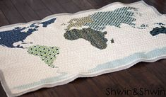 world map quilt free pattern