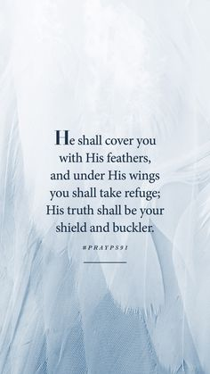 Psalm 91 Prayer, Psalms, Under His Wings, Prayer For Protection, Great Words, Prayers, Angels, Signs, Quotes