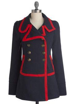 Knitted Dove Seaside Salutations Coat | Mod Retro Vintage Coats | ModCloth.com