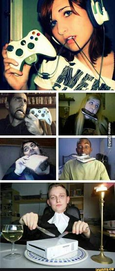 """Funny pictures about How """"gamer girls"""" look like. Oh, and cool pics about How """"gamer girls"""" look like. Also, How """"gamer girls"""" look like photos. Funny Shit, Funny Cute, Funny Posts, The Funny, Funny Memes, Funny Stuff, Funny Videos, Funniest Memes, Funny Fails"""