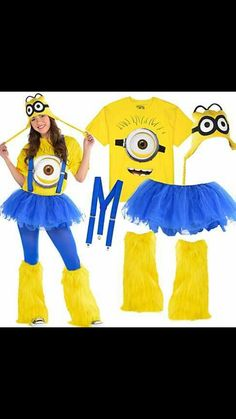 d testable moi costume de femme minion minions les. Black Bedroom Furniture Sets. Home Design Ideas