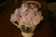 delicate paper flowers